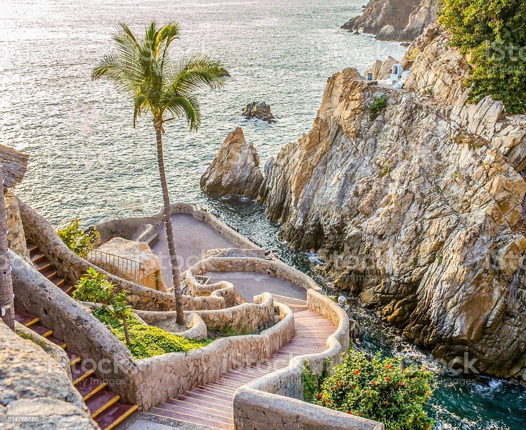 Acapulco cliff stock photo