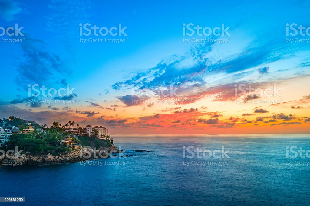 Acapulco Mexico Sunset stock photo