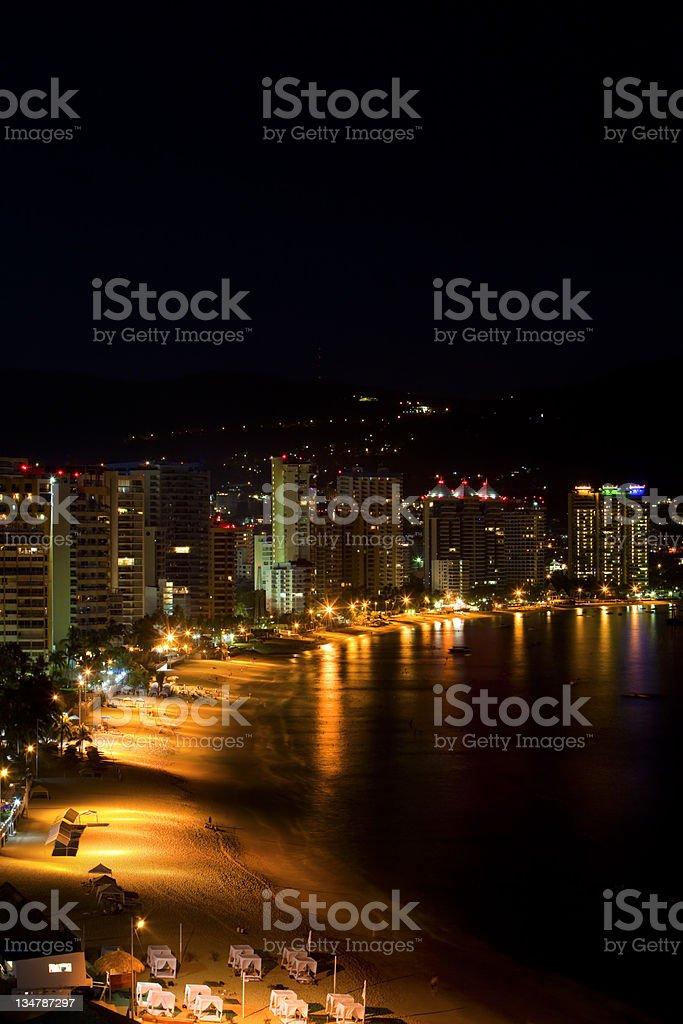 Acapulco nightlife stock photo
