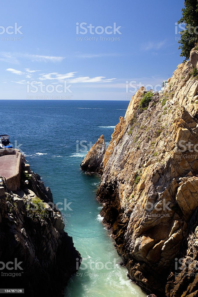 Acapulco rocks stock photo