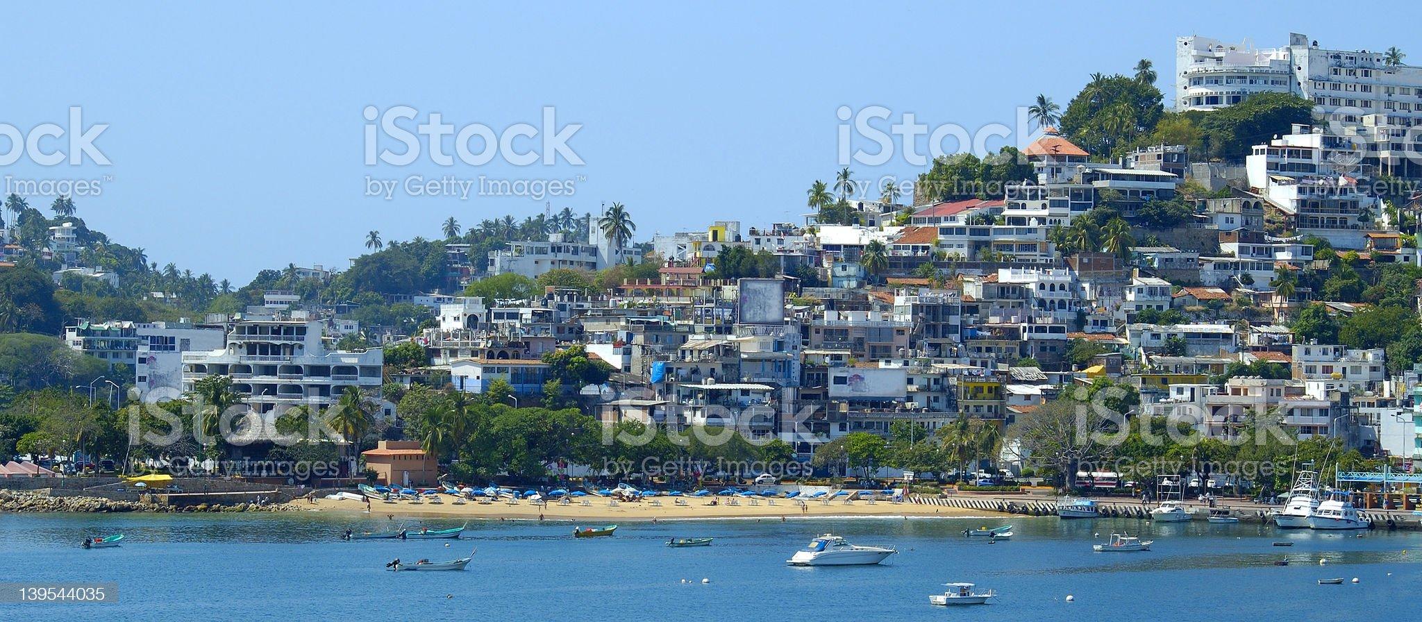 Acapulco Shore Panoramic royalty-free stock photo