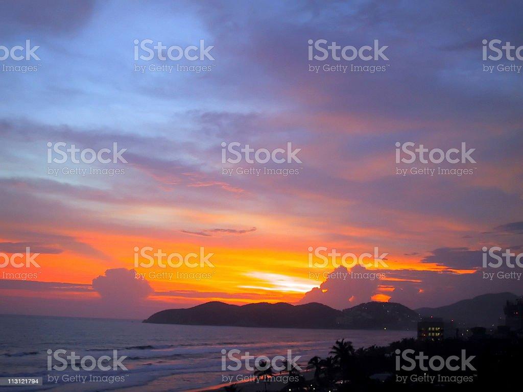 Acapulco Sunset royalty-free stock photo