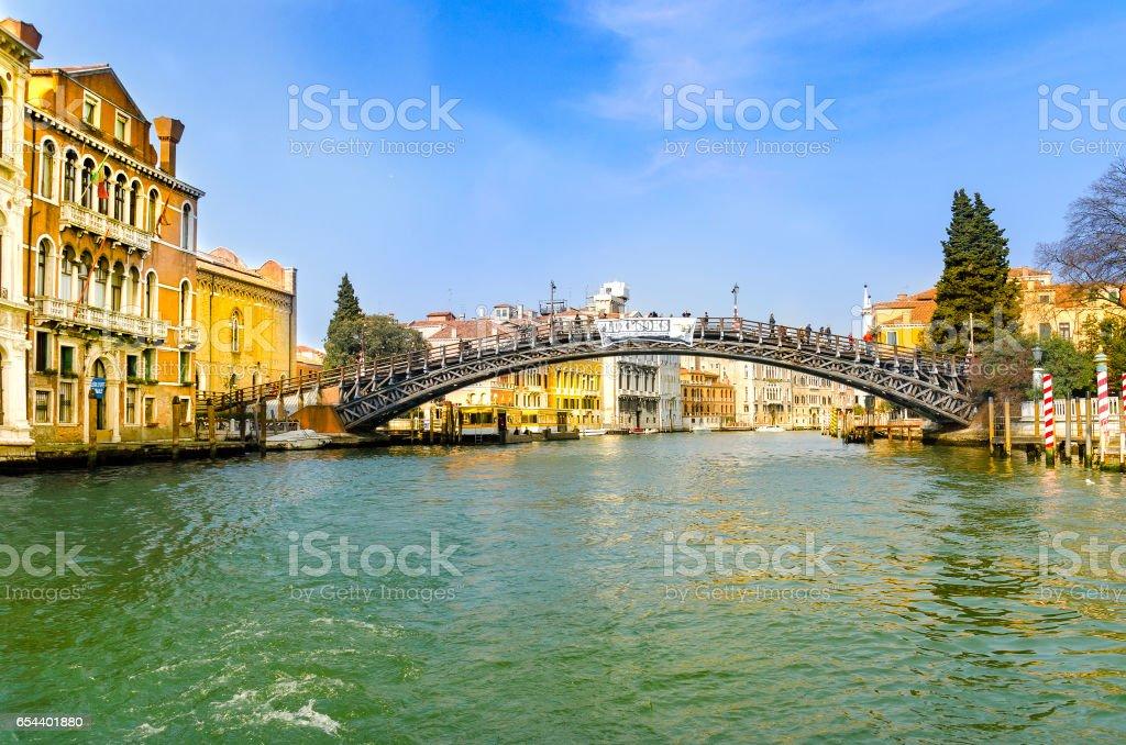 Accademia Bridge, Venice stock photo