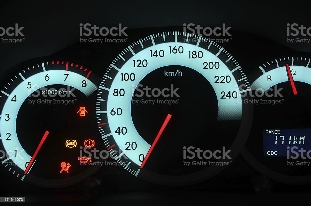 acceleration and rpm stock photo