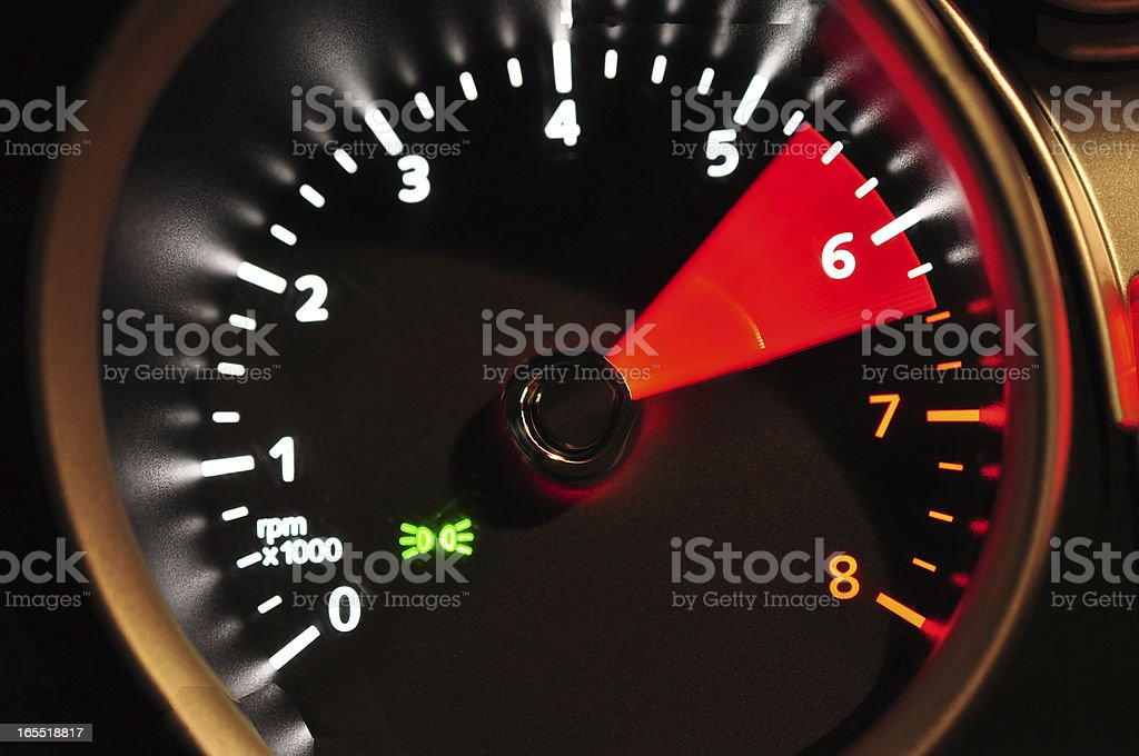 Acceleration meter stock photo