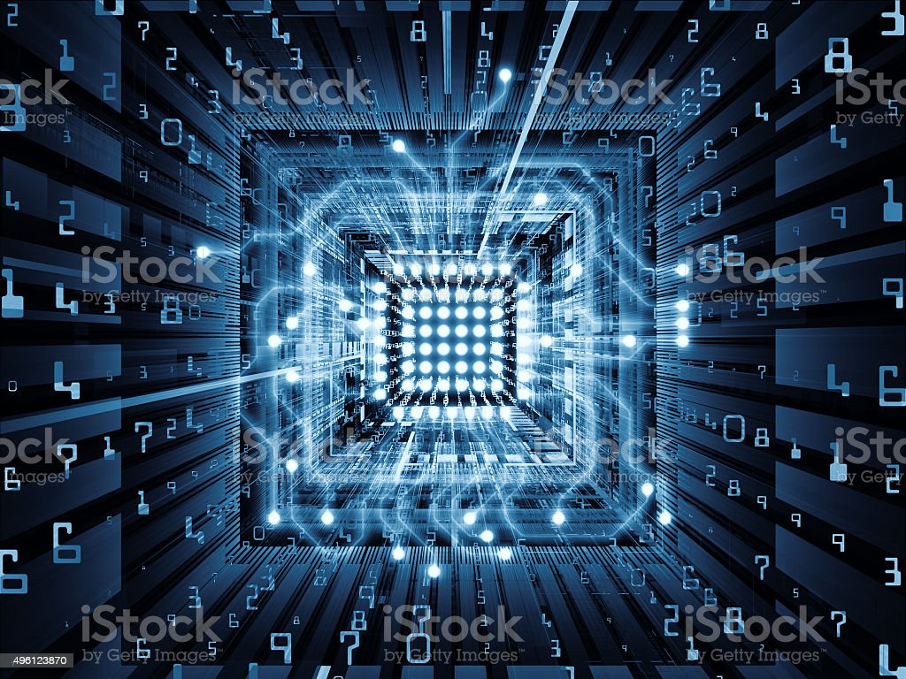 Acceleration of CPU stock photo