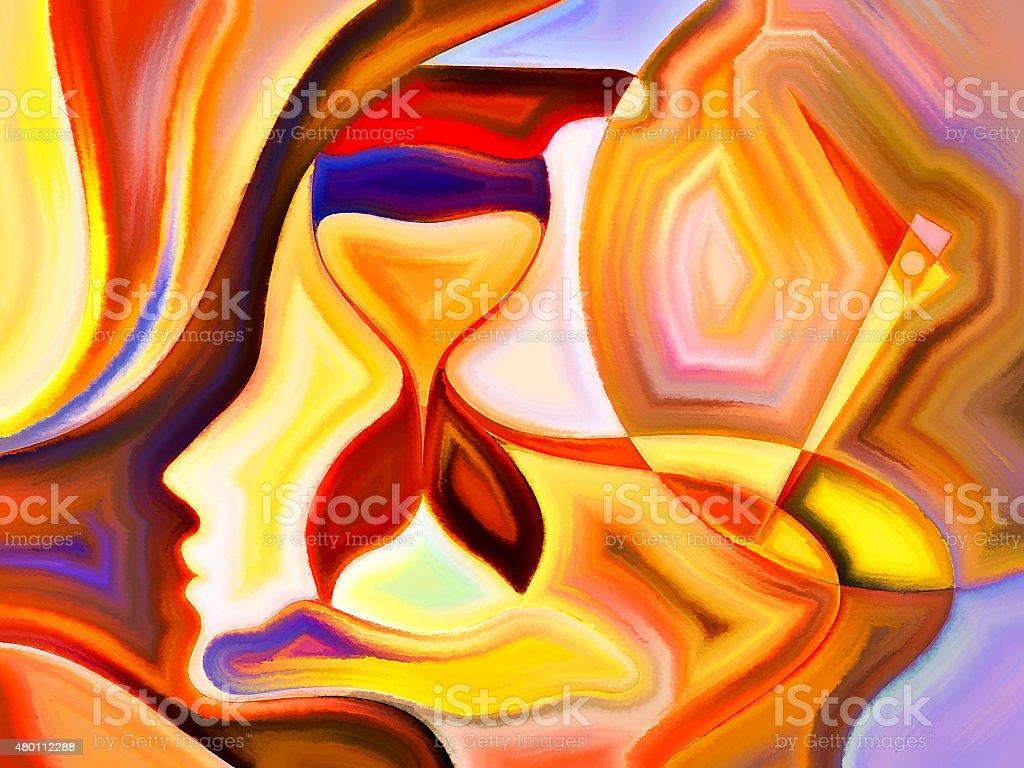 Acceleration of Mind Shapes stock photo