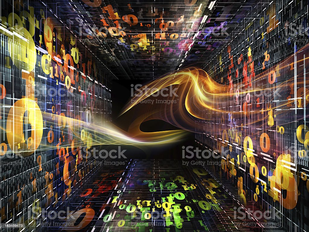 Acceleration of Numbers royalty-free stock photo