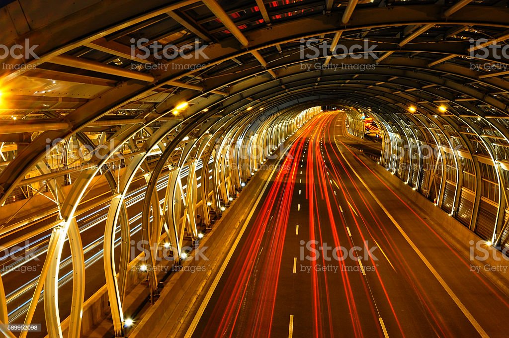 acceleration of the target stock photo