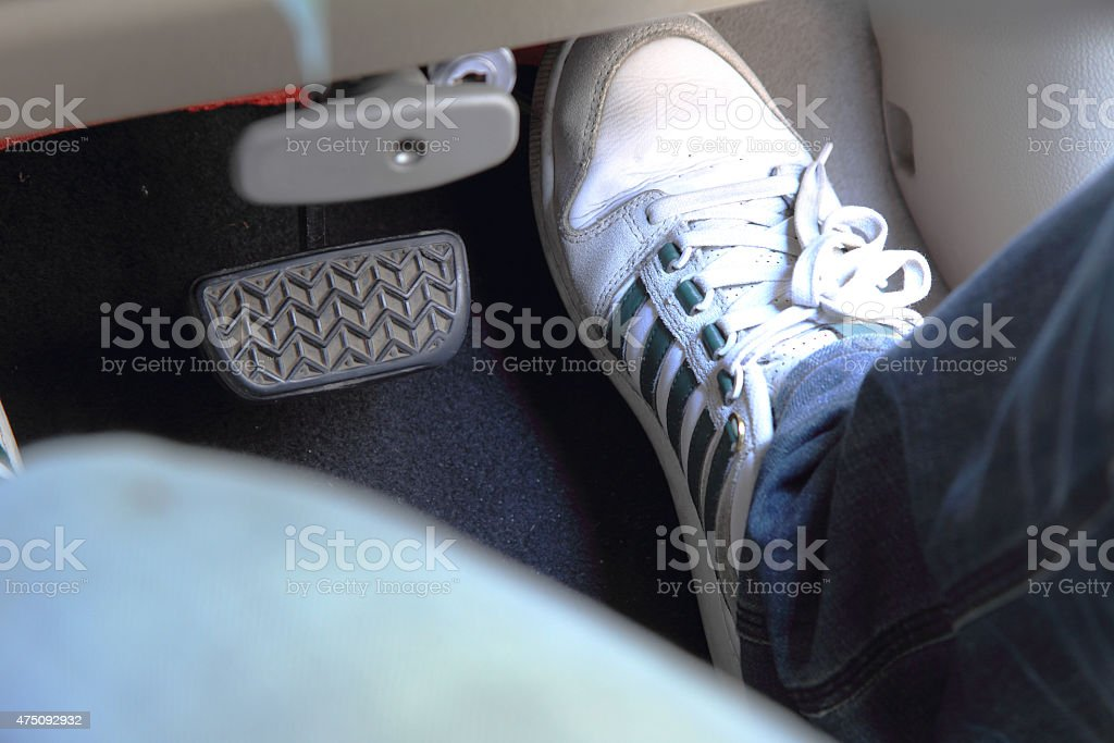 accelerator pedal stock photo
