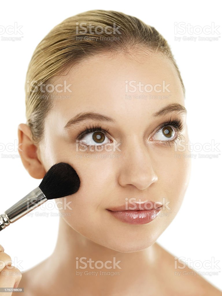 Accentuating her cheekbones royalty-free stock photo