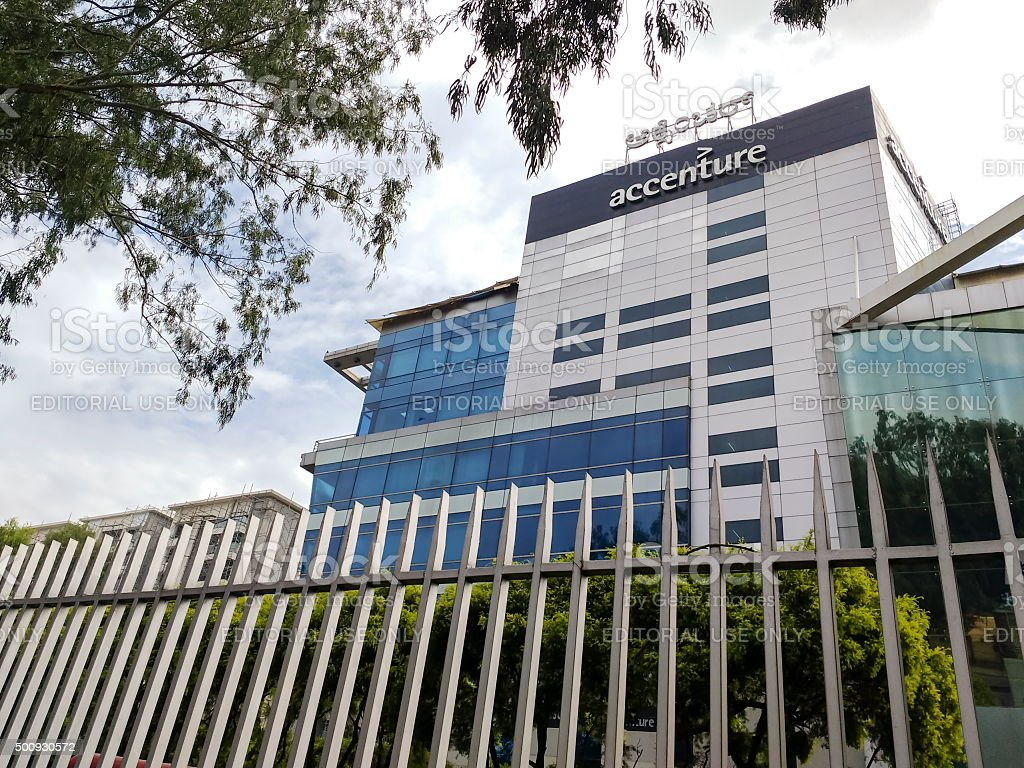 Accenture office in Bangalore, India stock photo