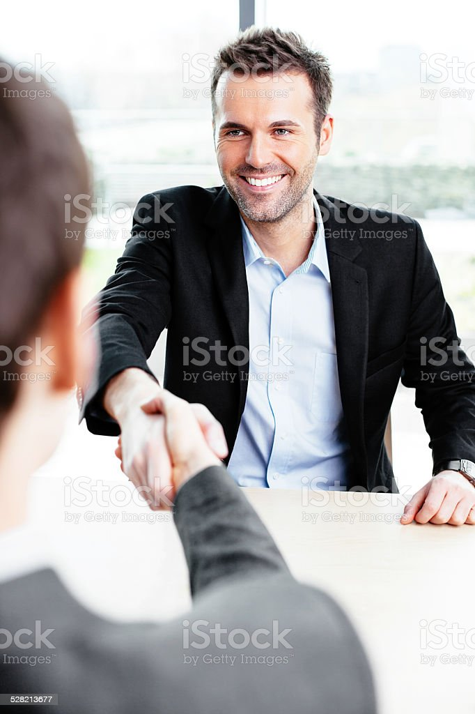 I accept the offer stock photo