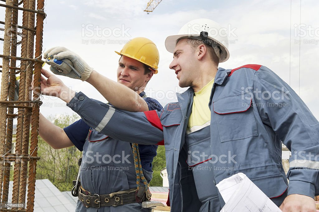 acceptance of work    engineer accept construction works royalty-free stock photo