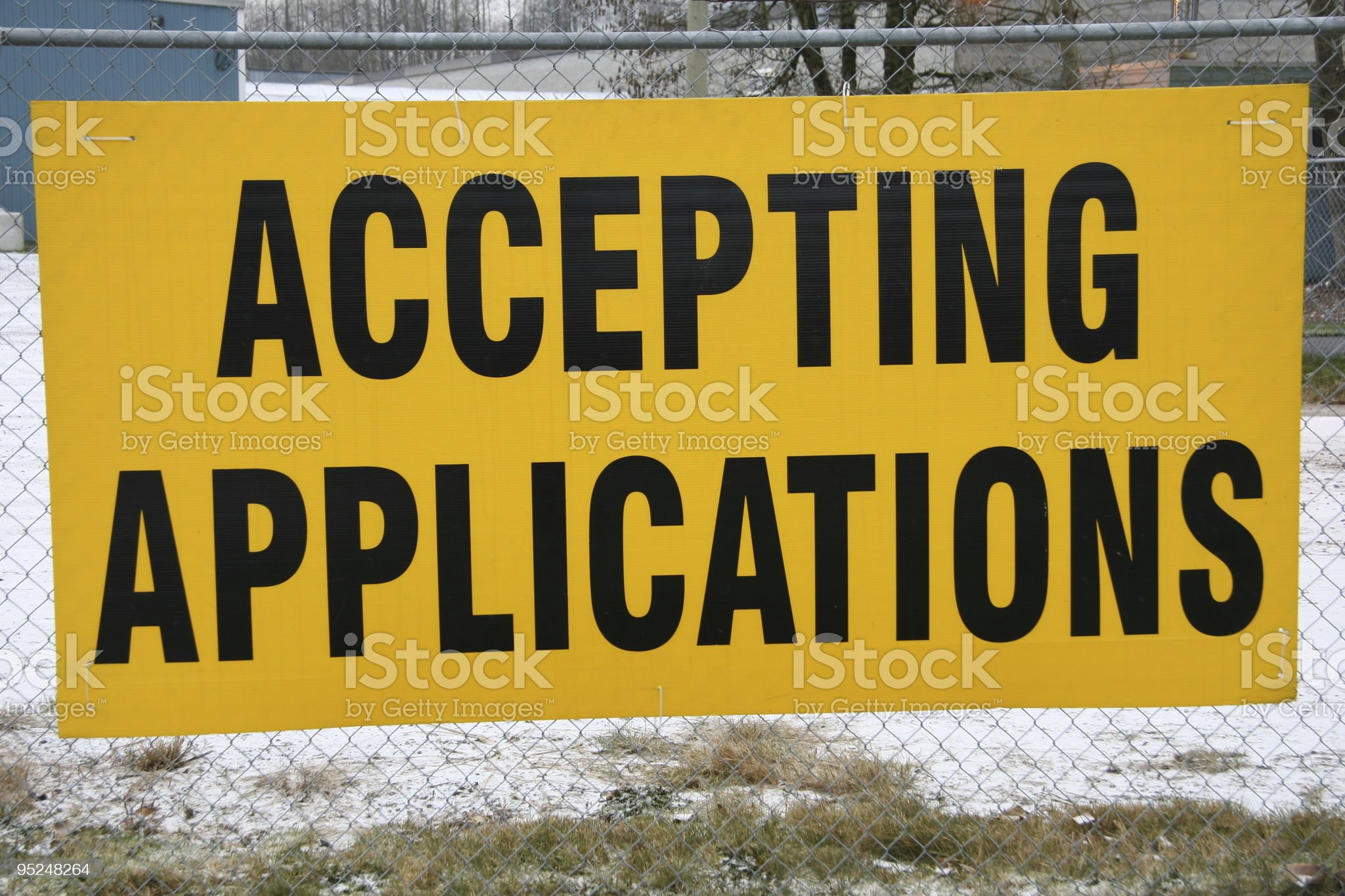 Accepting Applications royalty-free stock photo