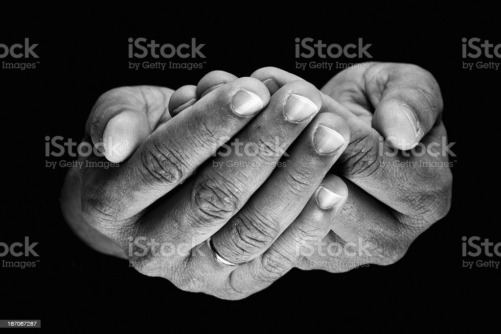Accepting hands royalty-free stock photo