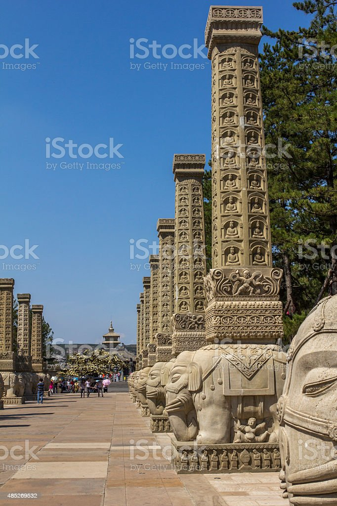 acces road to Ligyan Temple and Yungang grottoes stock photo