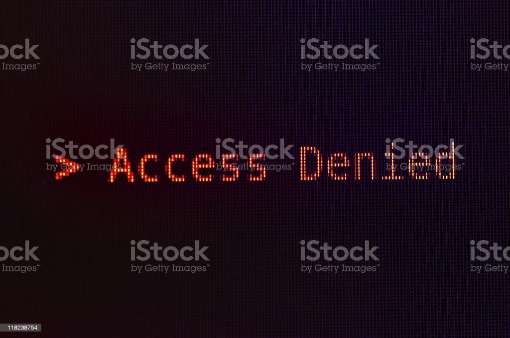 Access Denied royalty-free stock photo
