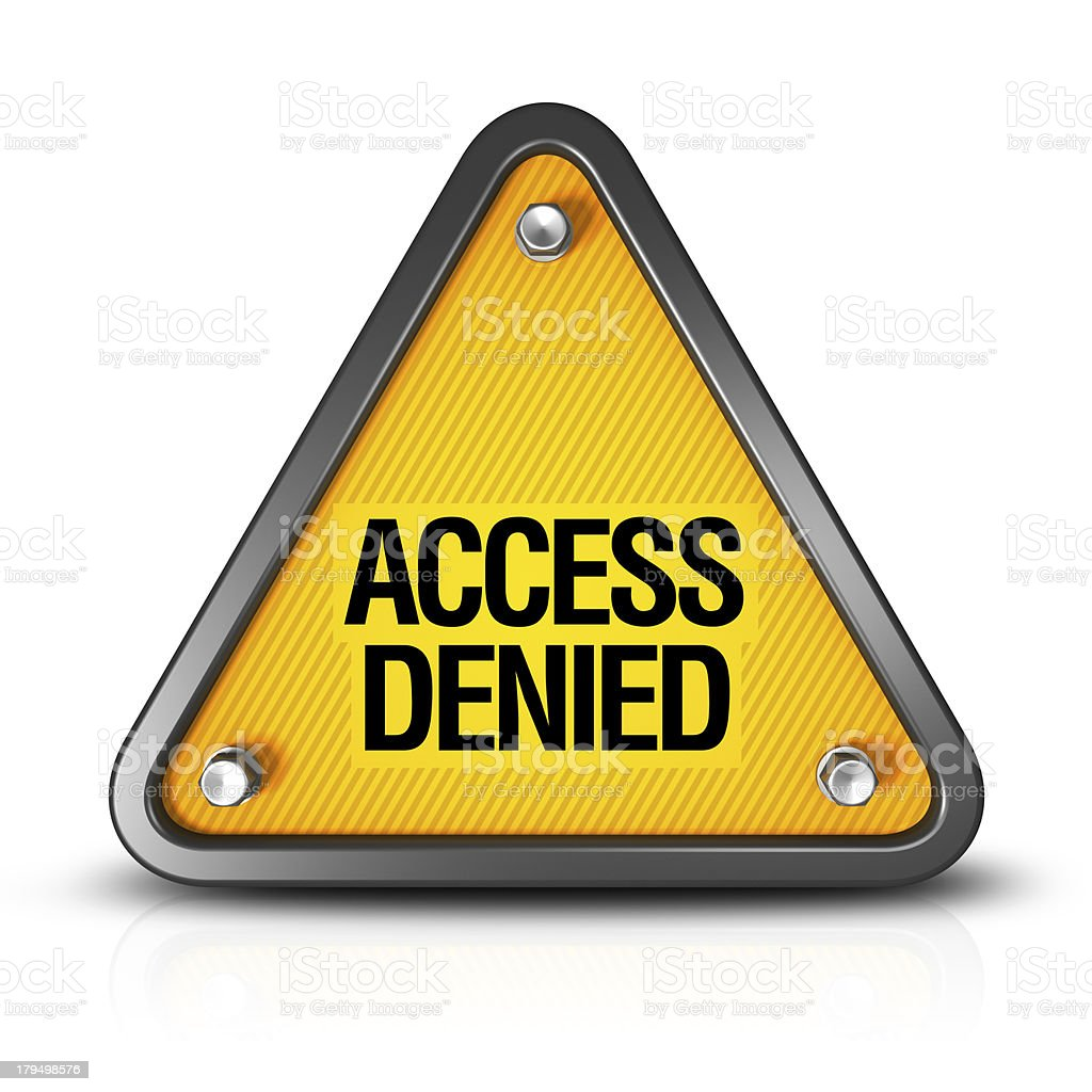 Access Denied royalty-free stock photo