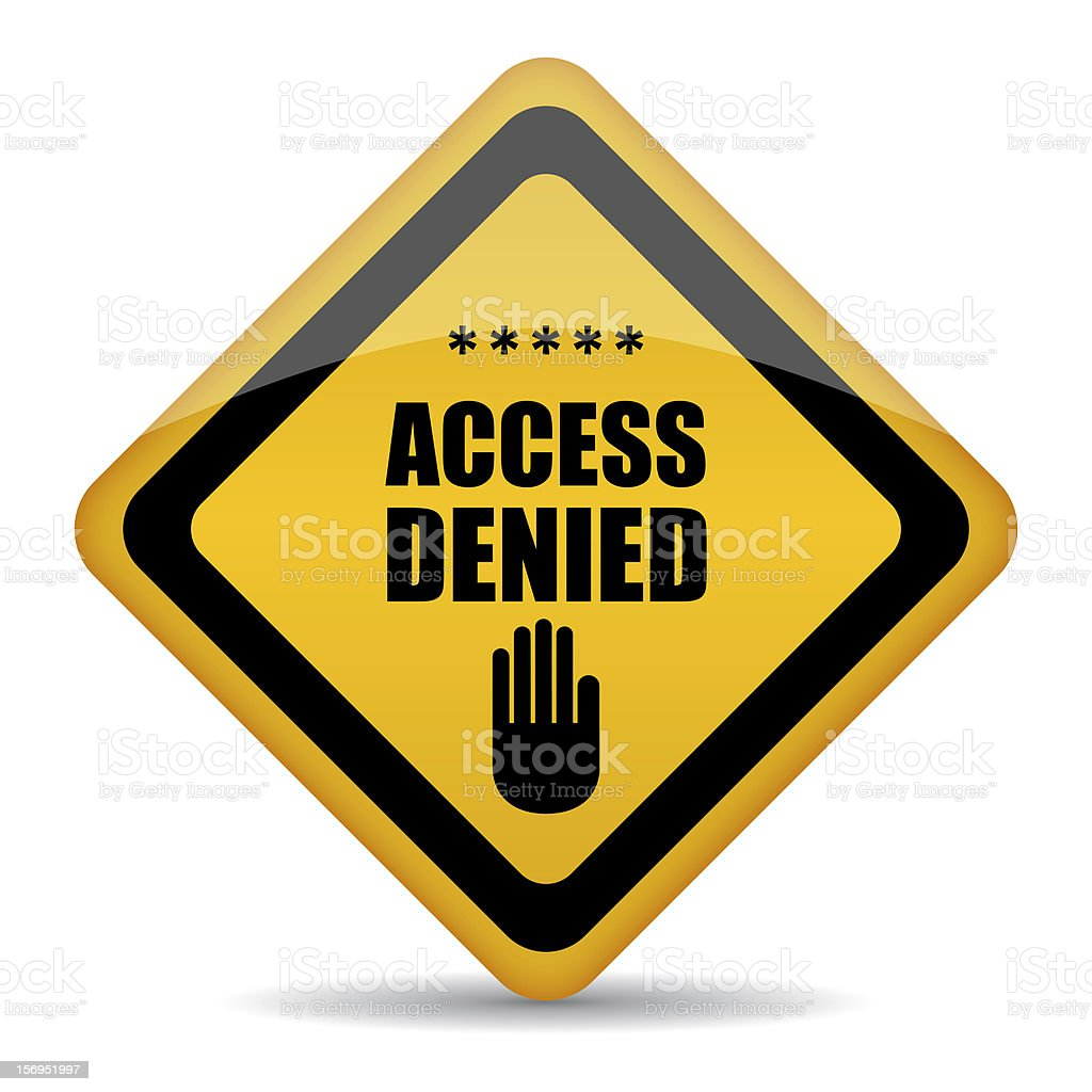 Access denied sign stock photo