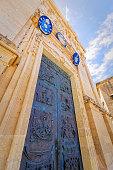 Access door to the basilica of St. George, Gozo, Malta