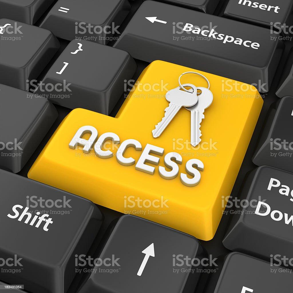 access enter key royalty-free stock photo