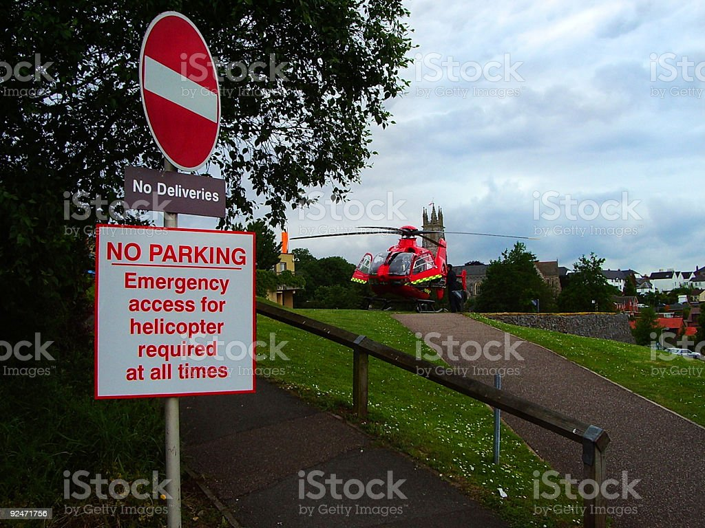 Access For Helicopter stock photo