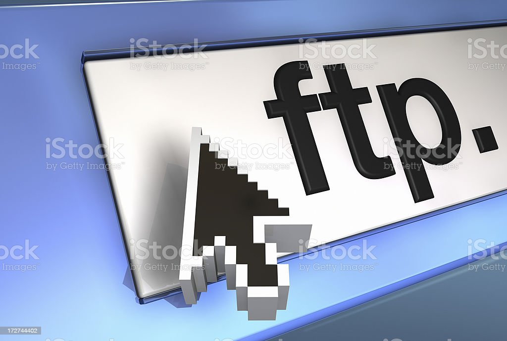 access FTP file transfer protocol royalty-free stock photo
