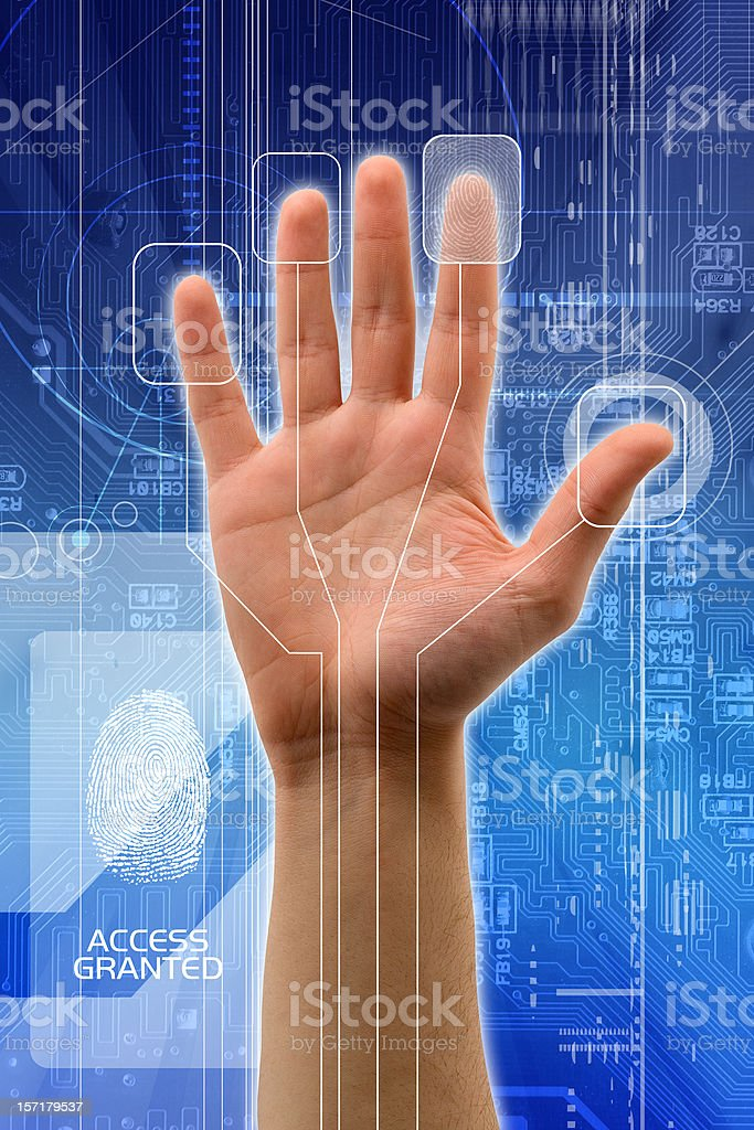 Access granted stock photo