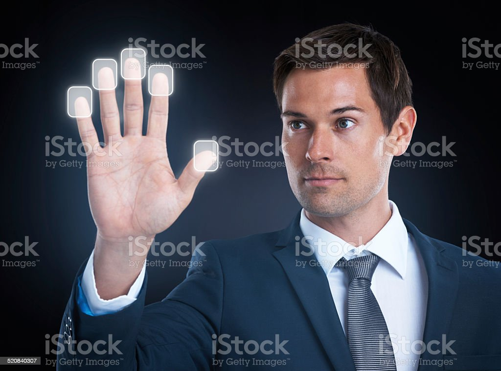 Access granted! stock photo