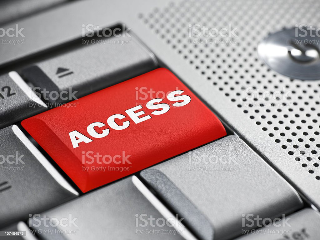 Access key on a laptop royalty-free stock photo