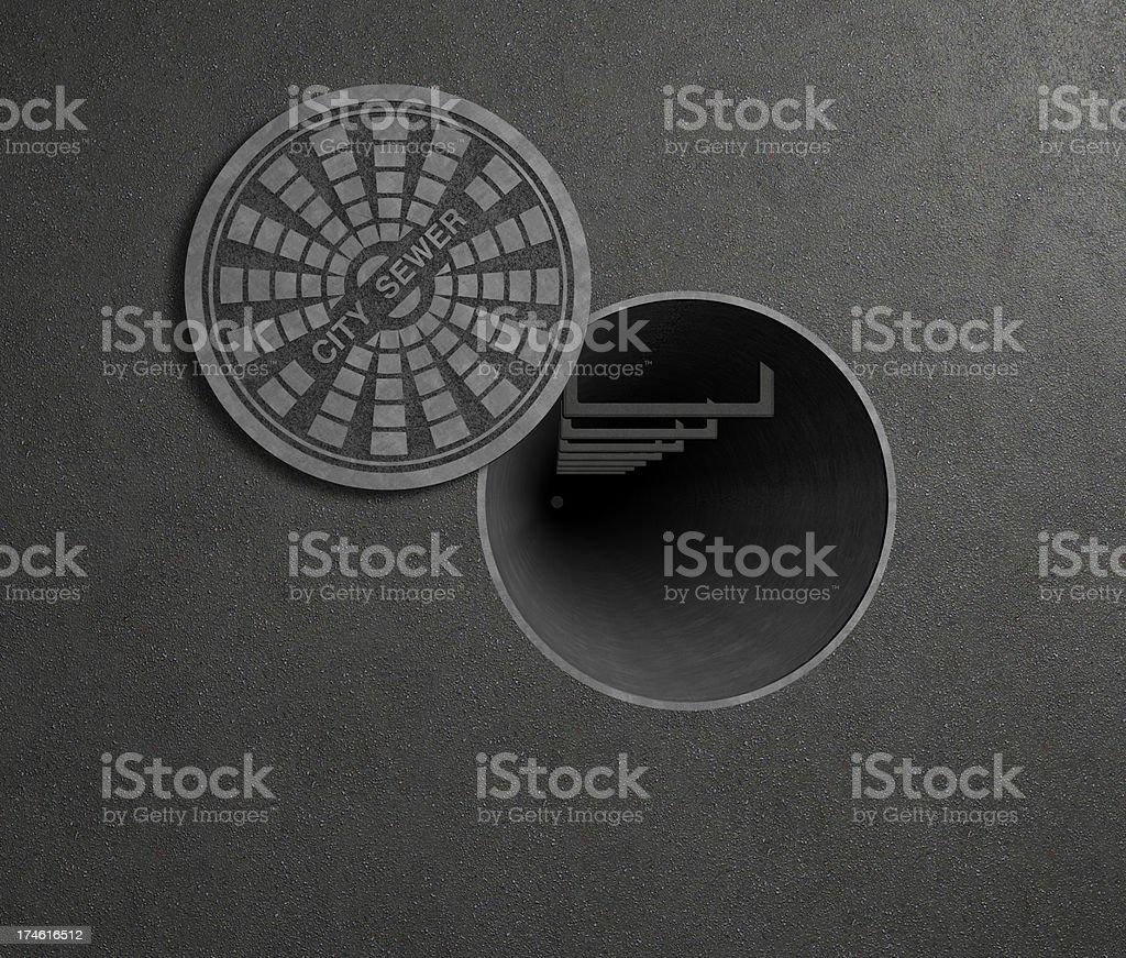 access manhole stock photo
