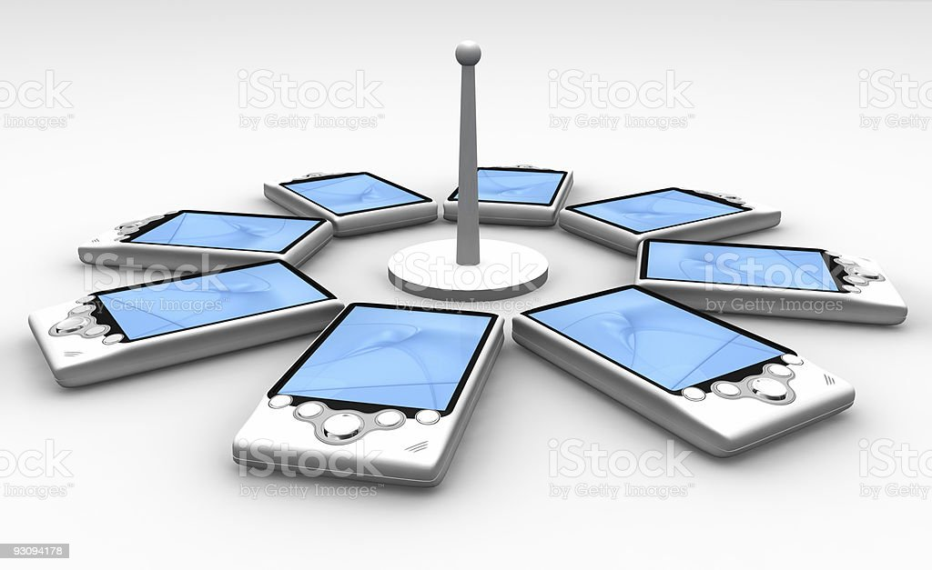 Access point with 8 PDA royalty-free stock photo
