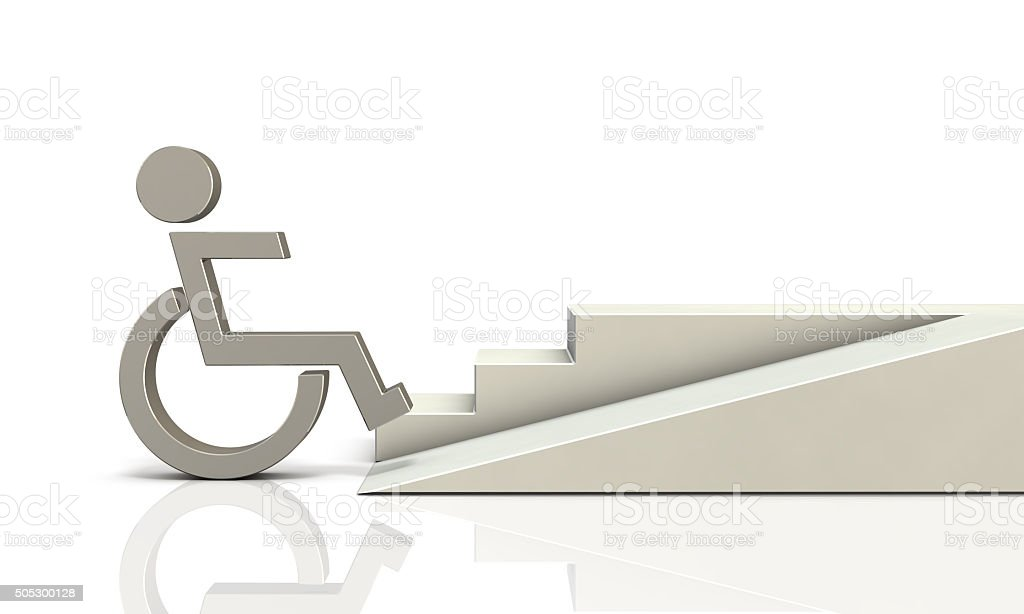 Access ramp for wheelchair users stock photo