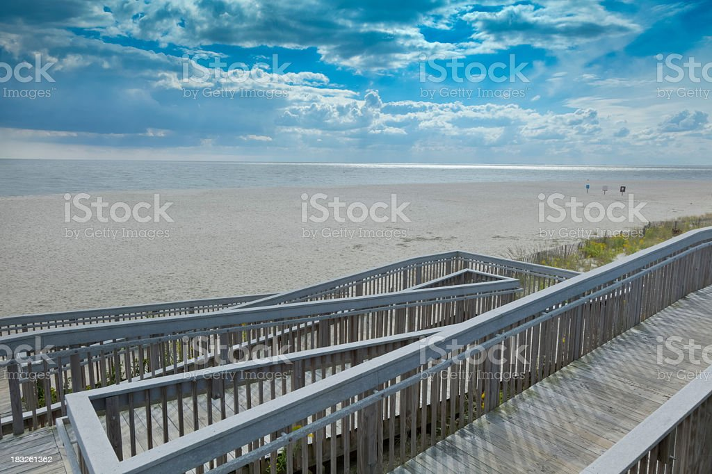 Access Ramp to the Beach in New Jersey stock photo