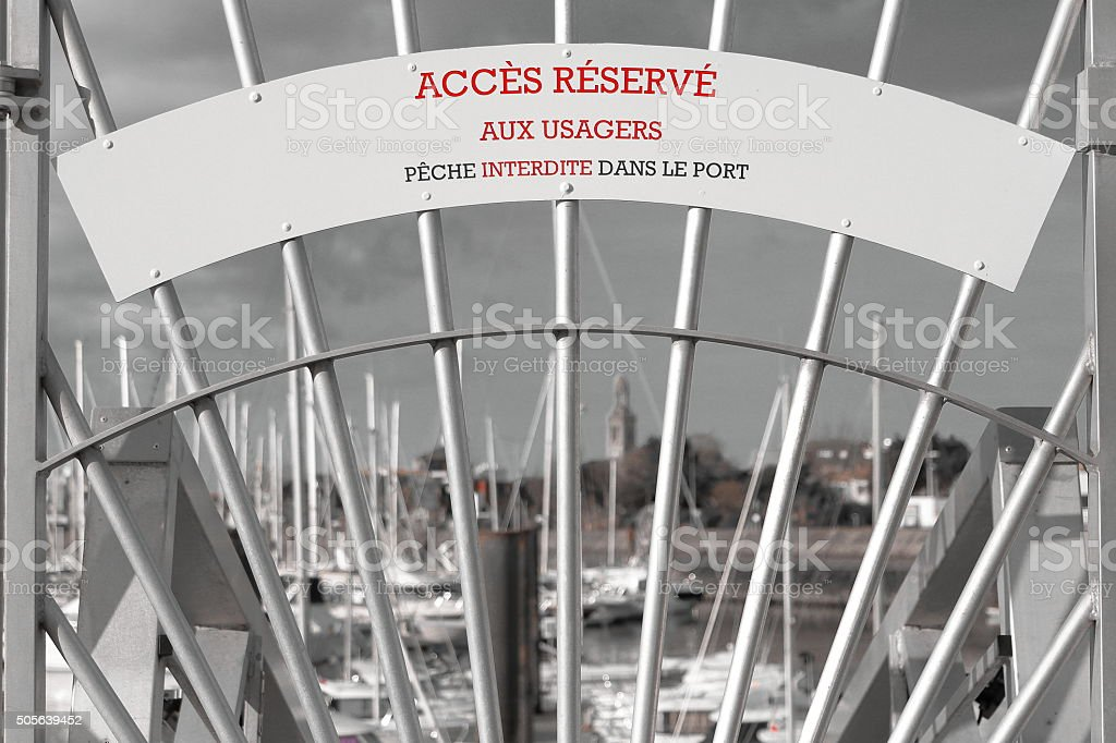 Access reserved to used stock photo