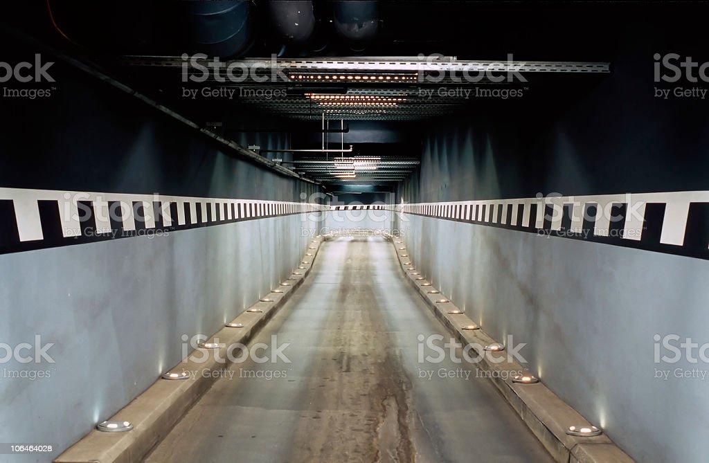 Access to an underground garage stock photo
