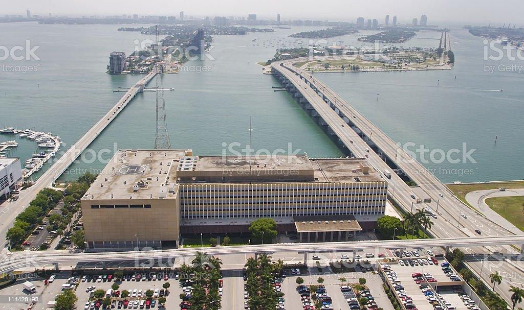 Access to Miami beach stock photo