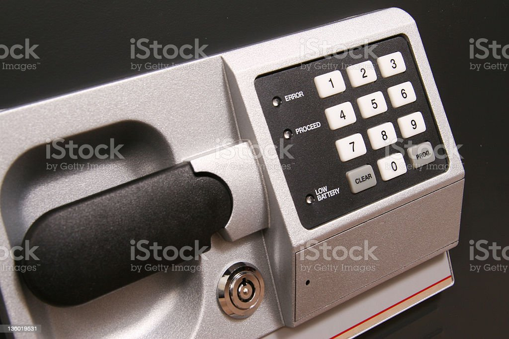 Access To Safe royalty-free stock photo