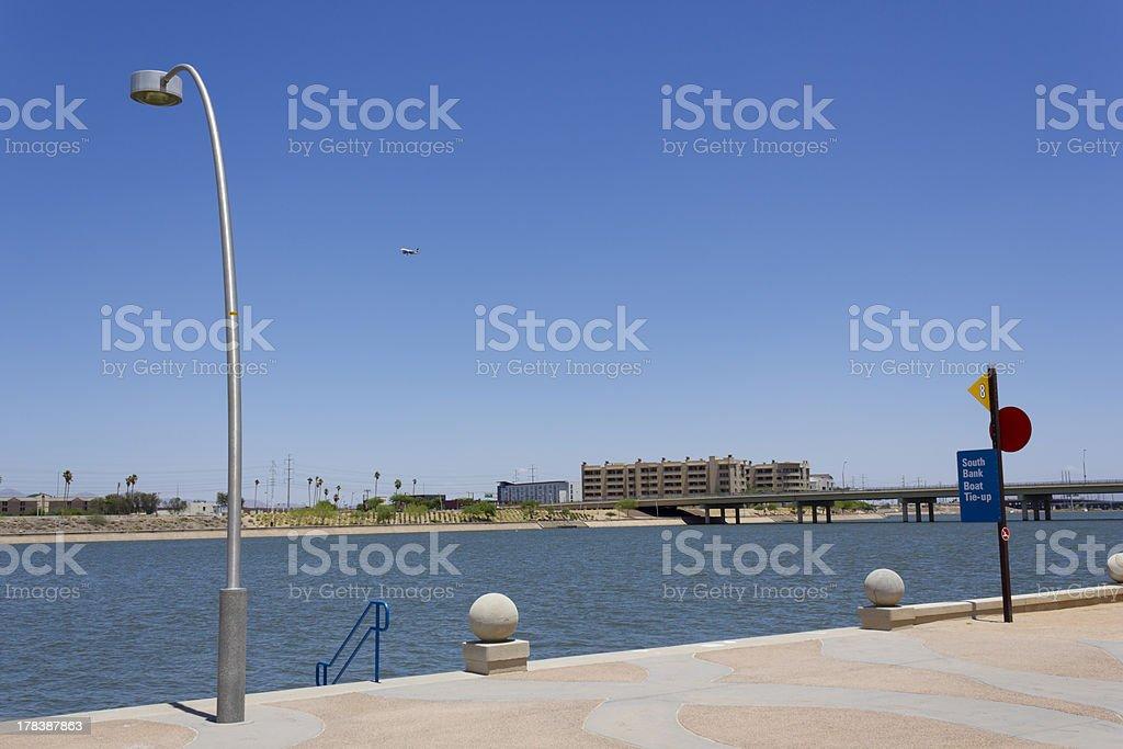 Access to Tempe City Lake royalty-free stock photo