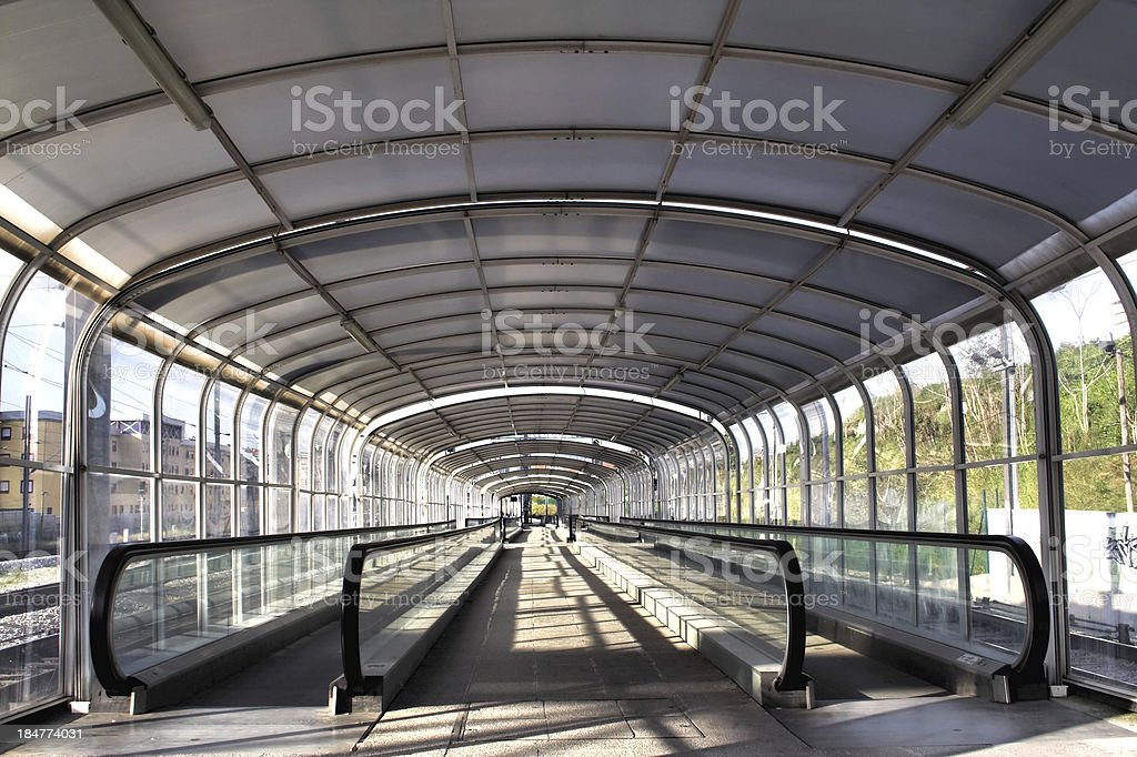 Access tunnel in a train station. royalty-free stock photo