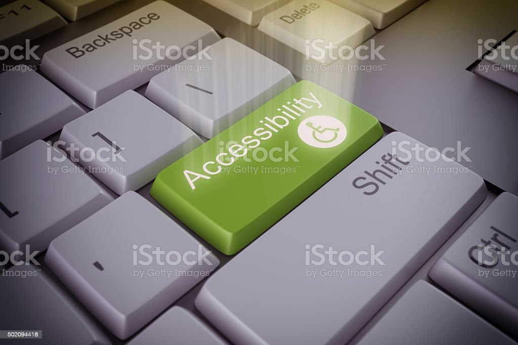 Accessibility  key stock photo