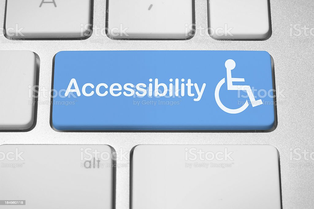 Accessibility keyboard button stock photo