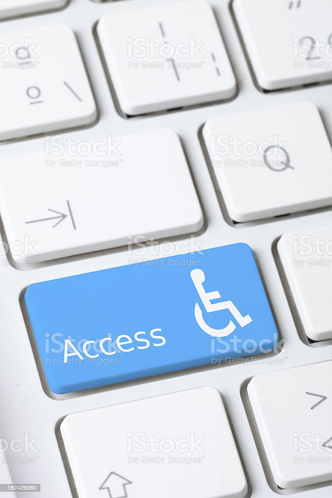 Accessibility royalty-free stock photo