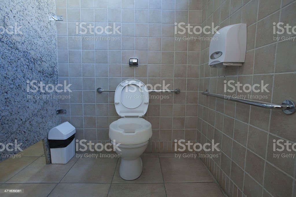Accessibility toilet for Wheelchair stock photo