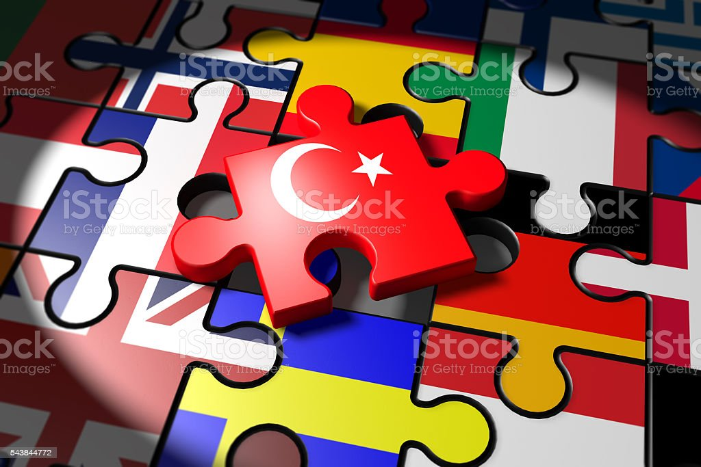 Accession negotiations between the EU and Turkey stock photo