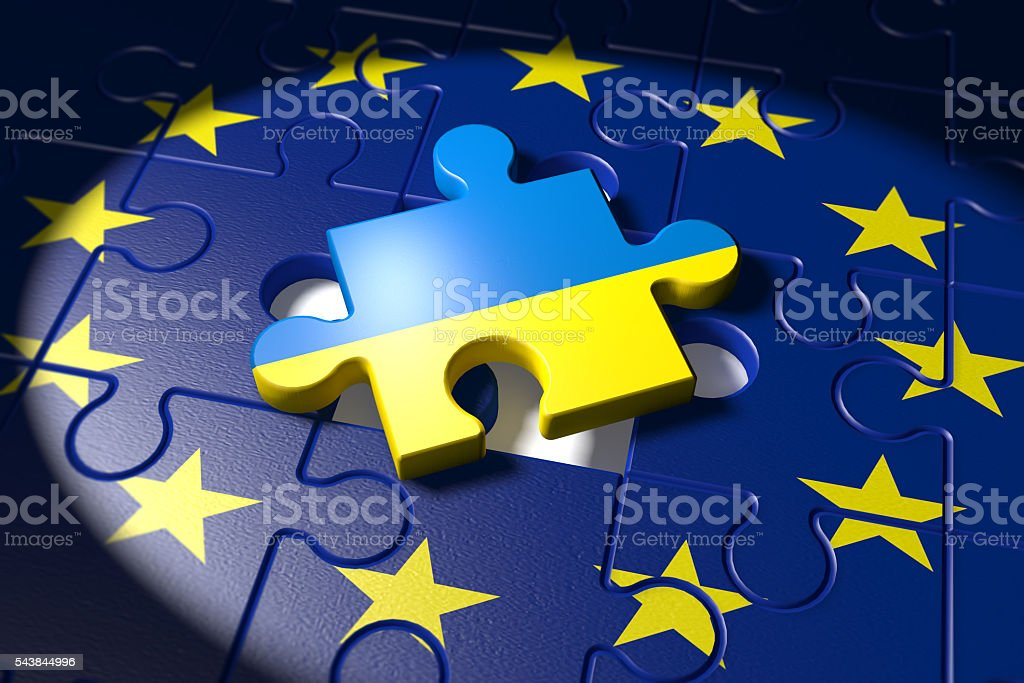 Accession negotiations between the EU and Ukraine stock photo