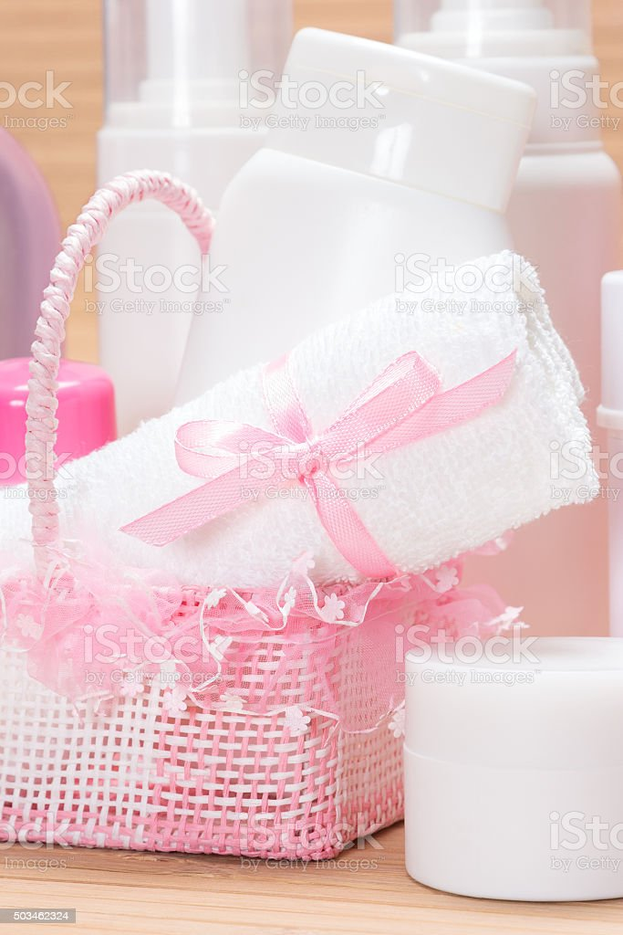 Accessories and cosmetics for skin care stock photo