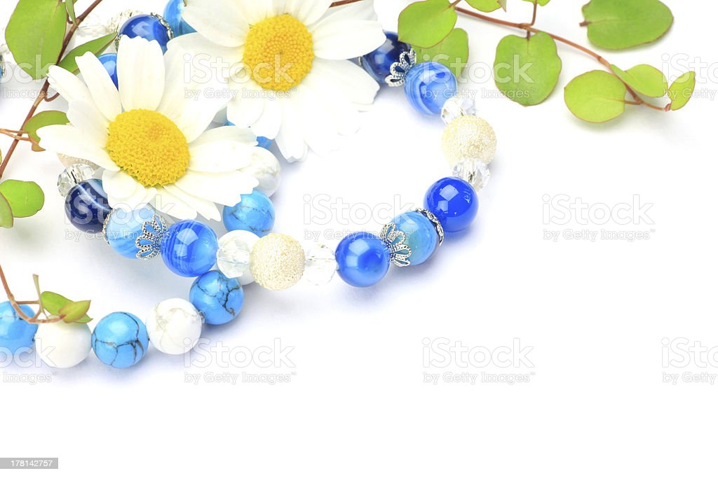 accessories and flower stock photo