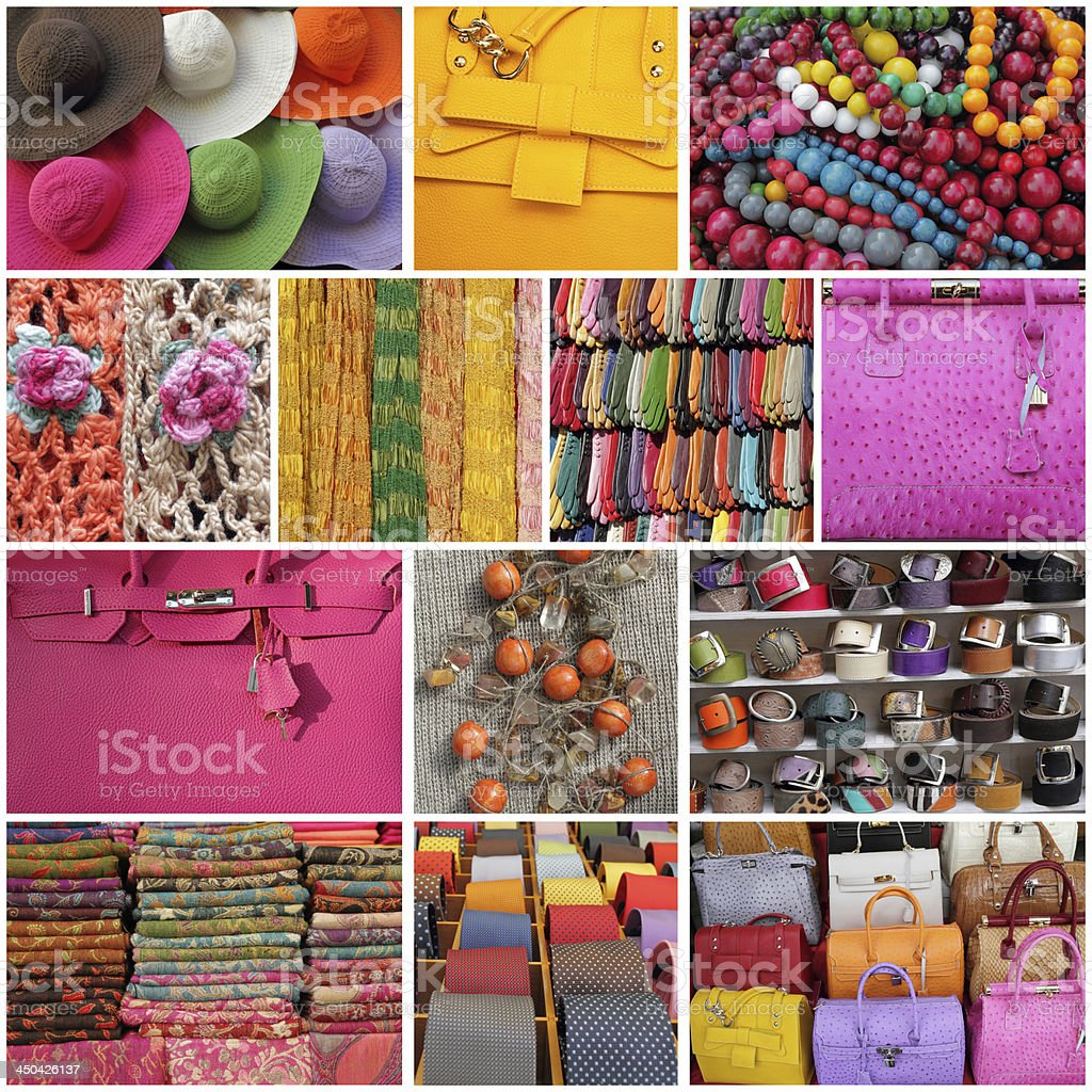 accessories collage royalty-free stock photo